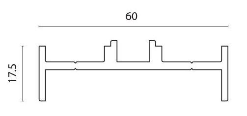 Profil adapter for F60 Louver pr meter