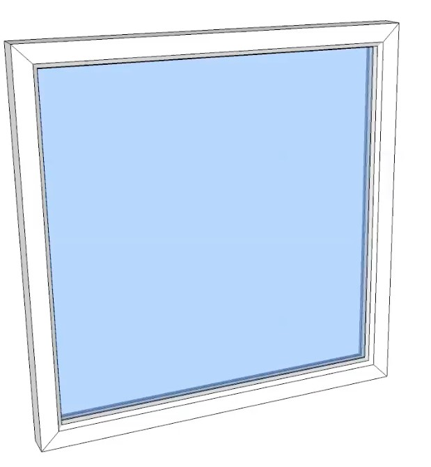 Vindu fastkarm PVC 490x1190 2-lag glass pr stk