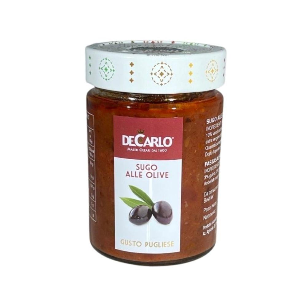 """De Carlo Pastasaus med oliven. """"Alle Olive"""" 300g"""