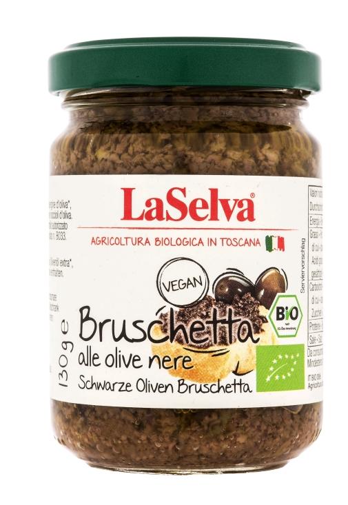 Bruschetta Svart Oliven La Selva Øko