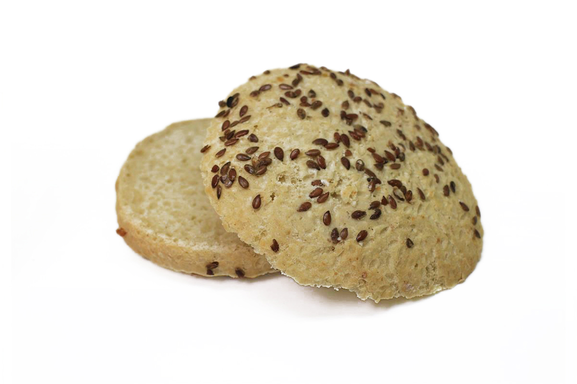 3 stk Hamurgerbrød 100g med linfrø