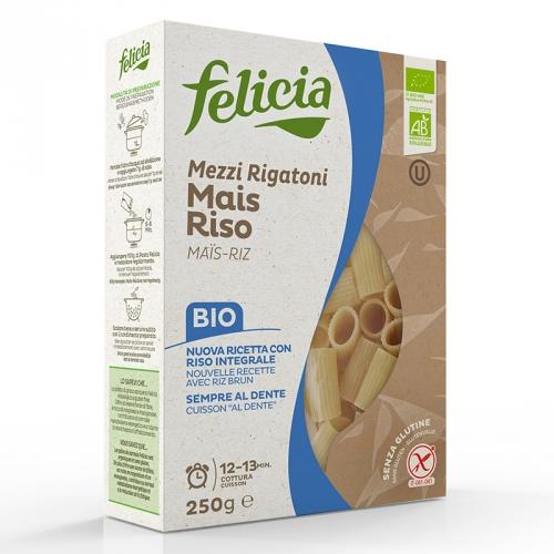 Mezzi Rigatoni, mais og ris 250g