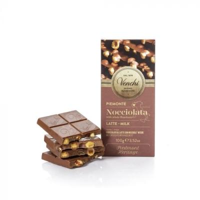 Sjokolade med hasselnøtter Venchi 100g