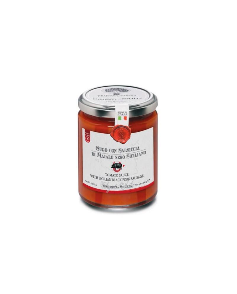 """Cutrera Tomatsaus med """"Pølse av svin fra Sicilia"""" 290g"""