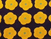 bomull , blå med gule blomster