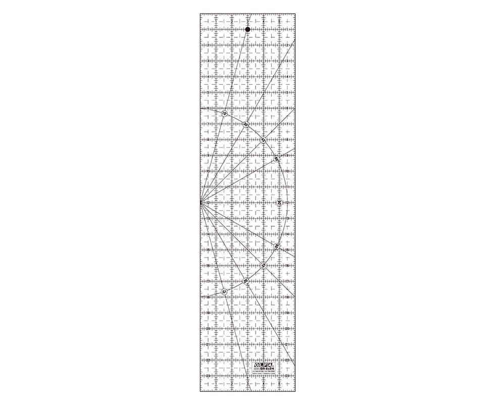 Linjal QR - 6x24