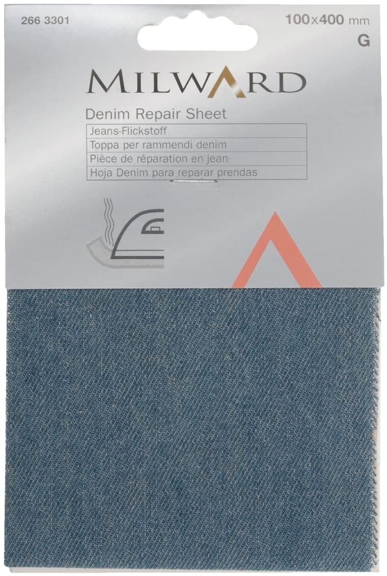 jeans lapp blå m
