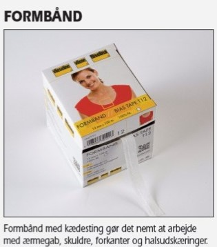 Vlies formband 12mm sort
