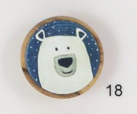 treknapp med isbjørn