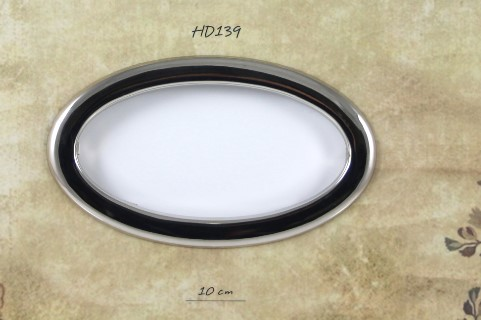 ovale veskehåndtak sølv farget