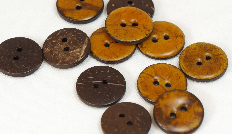 18mm knapp brun