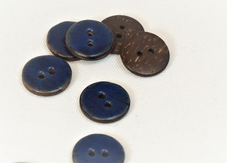 18mm knapp blå