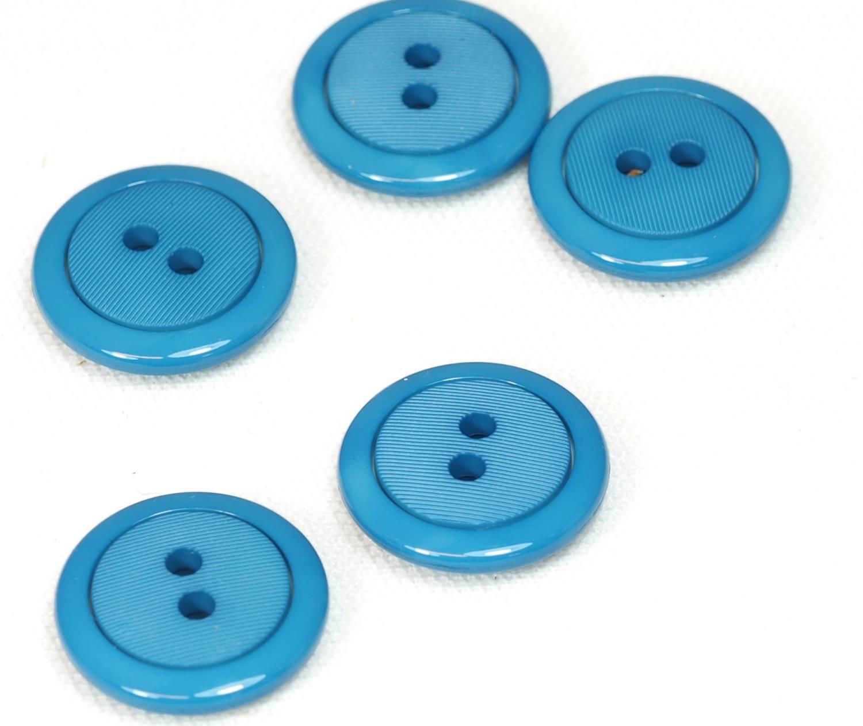 18mm blå knapp