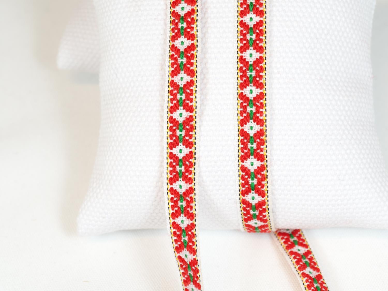 Ullband rød/krem