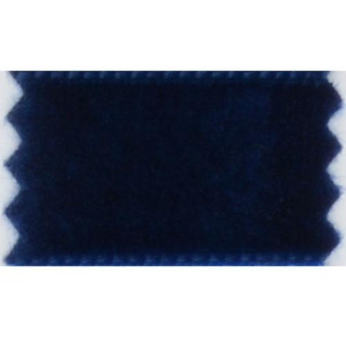 16mm blå fløyelsband
