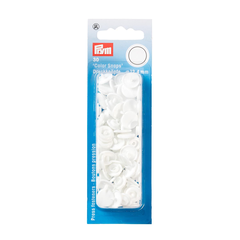 hvite plast trykk knapper