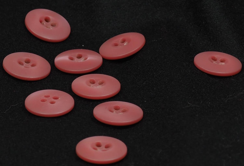 Knapp rosa 18mm