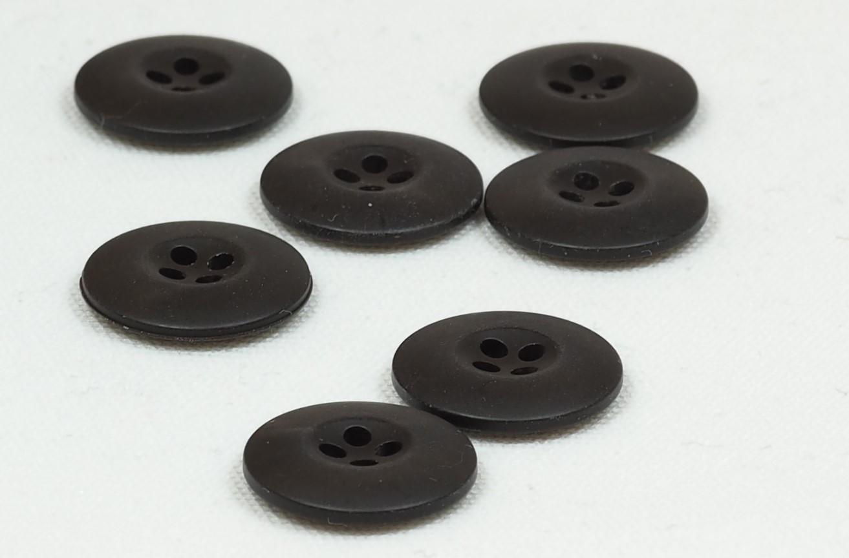 Knapp mørk brun 20mm