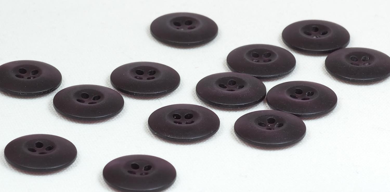 Knapp mørk brun 18mm