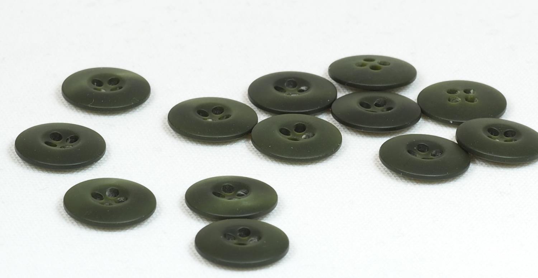 Knapp grønn 18 mm