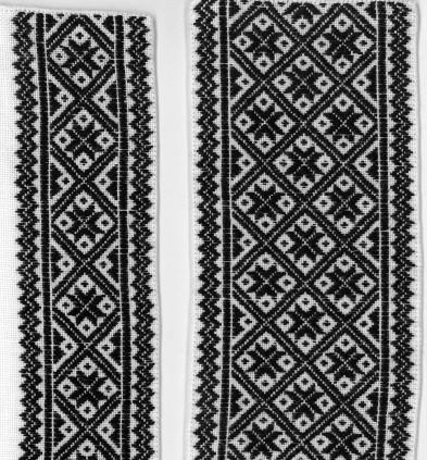 Skjortelinning vinter Hardanger 14 tråder lin material pakke