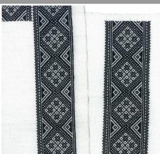 Materialpakke svartsaum skjortelinning