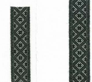Materialpakke svartsaum skjorte Vinter Hardanger