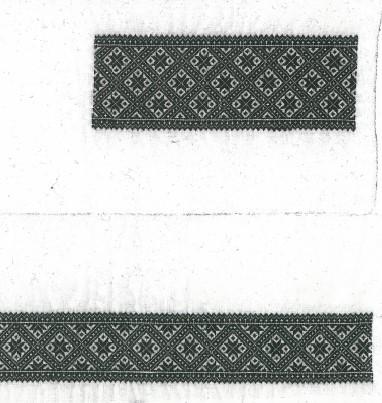 Materialpakke svartsaum skjorte, vinter hardanger