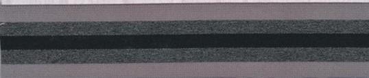 Elastikk grå-sort stripet