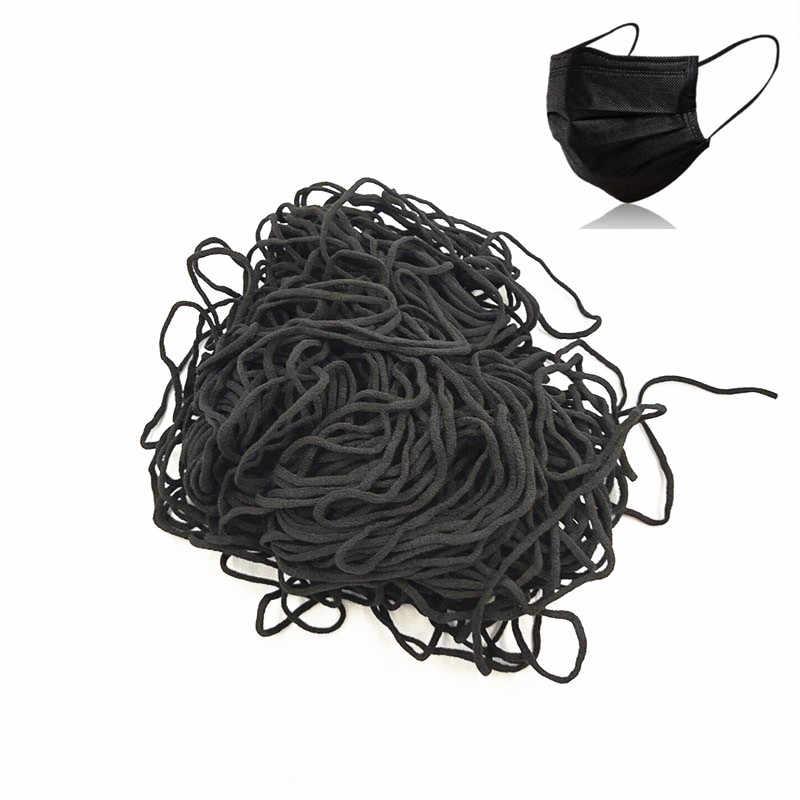 Rund elastikk 2mm bløt sort  til masker