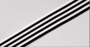 elastikk sort -hvitstripet 3 cm
