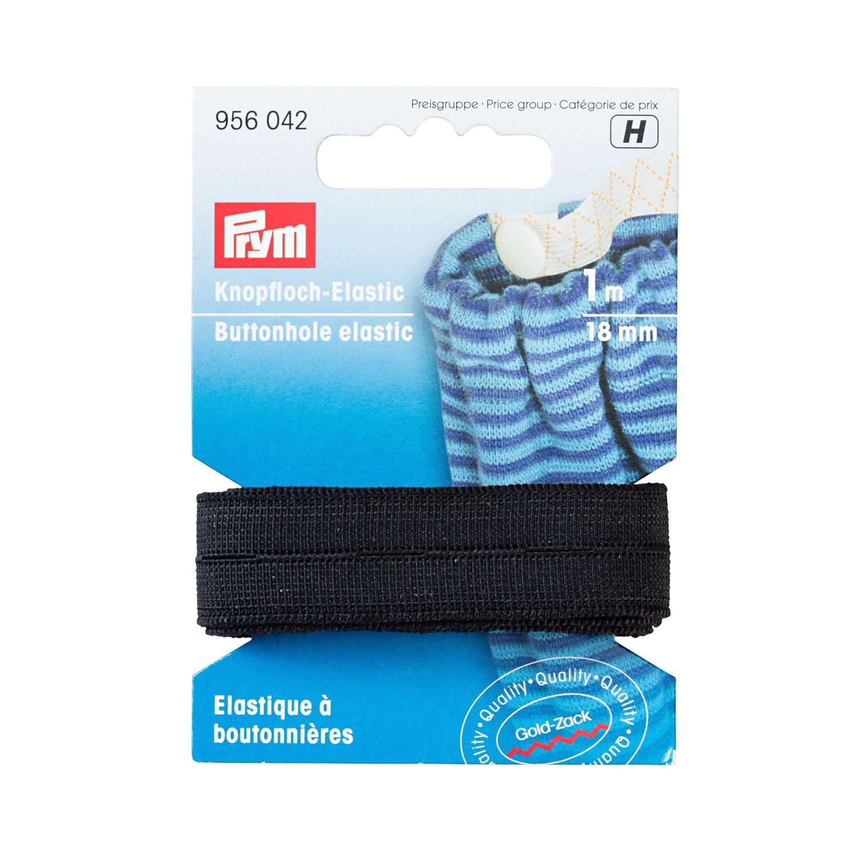 elastikk med knapphull sort