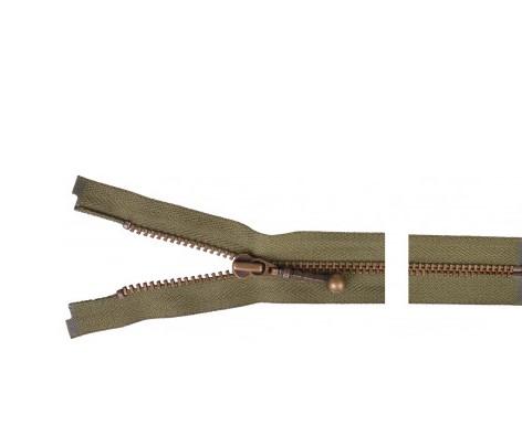 Glidelås lukket metall 35 cm antikk