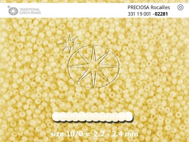 Perler nr 10 gul/hvit