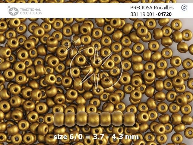 Perler nr 10 antikk gull