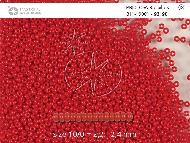 Perler nr 10 rød