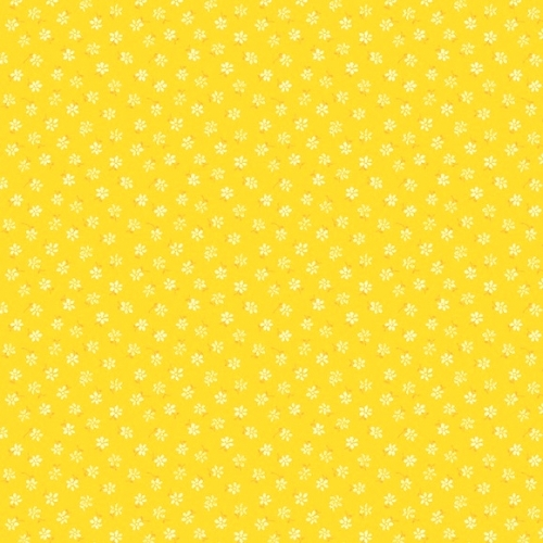 Amorette gul med blomster