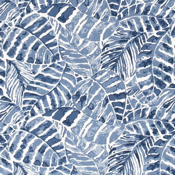 Viscose/ lin med blader
