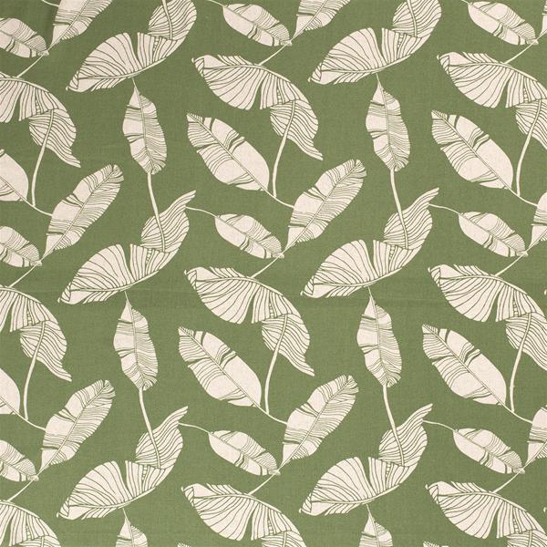 Viskose/Lin grønt med blader