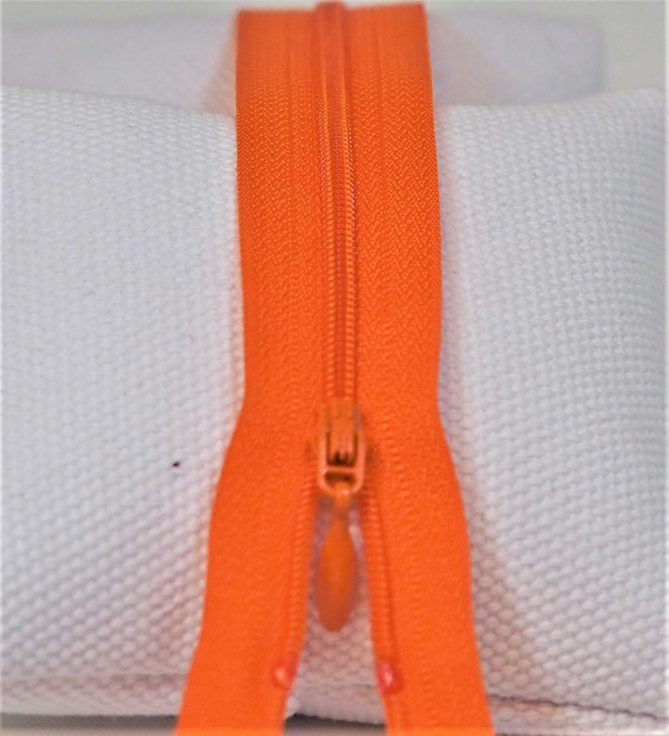 Glidelås 4mm,12cm Orange