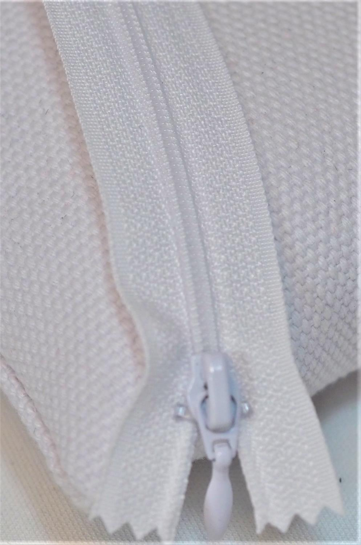 Glidelås 4mm hvit 15cm