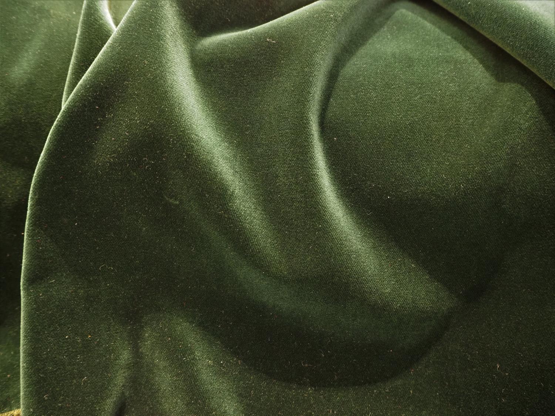 Fløyel dyp grønn