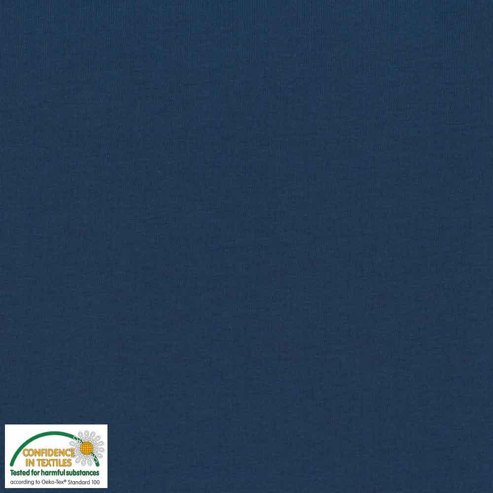 Avalana jersey ensfarget marineblå