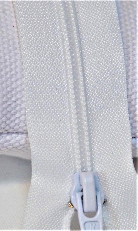 Glidelås 4mm,hvit50 cm