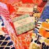 Maritime stoffer til teppe - materialpakke