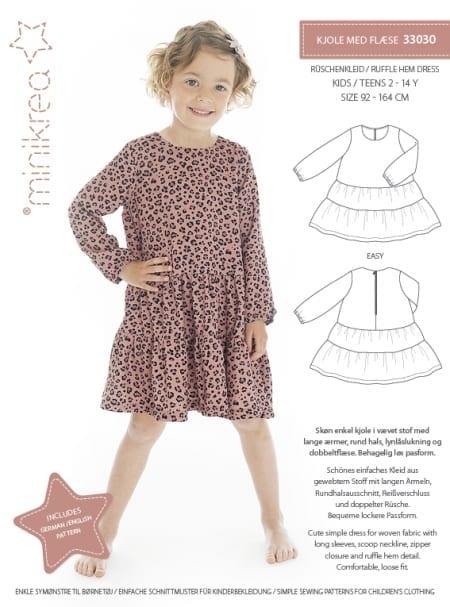 Minikrea: kjole med flæse