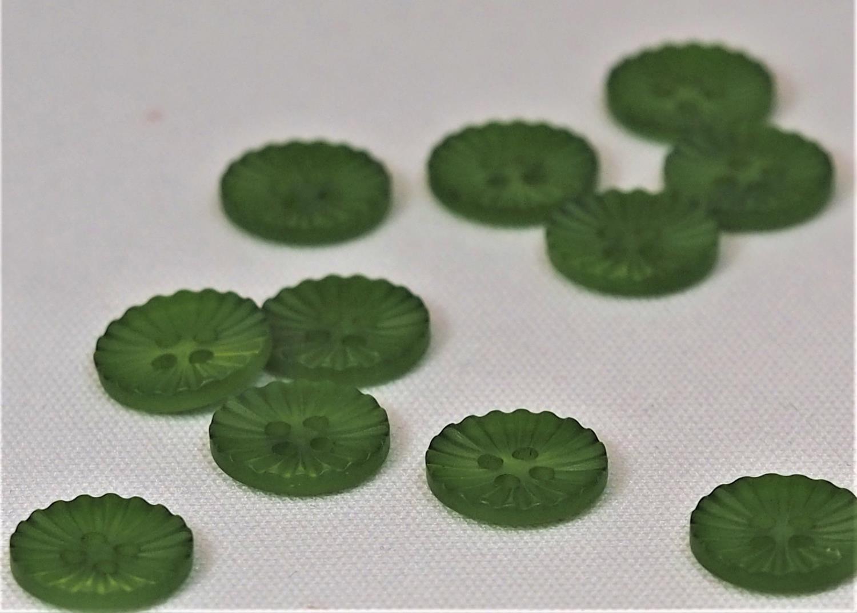Knapp: grønn 12mm