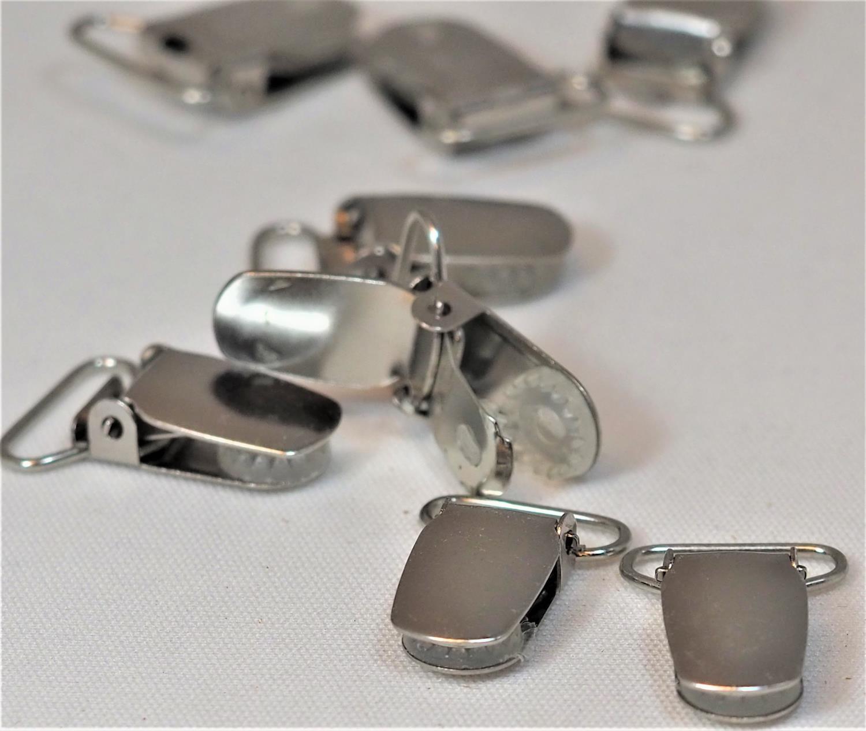 Buksesele klemmer sølvfarget