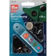 Trykk knapp Sport/ Camping 15mm sort