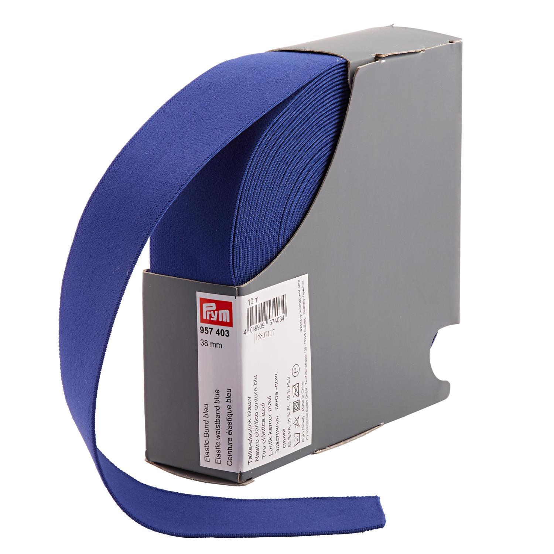 Elastill til linning 38mm klar blå